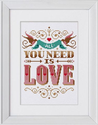 All You Need Is Love Cross Stitch Kit | sewandso