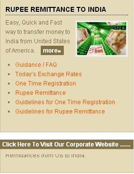 Specialized In Online Correspondent Banks Transfer To India From Usa Ru Remittance And Today S Indian Us Dollar Exchange