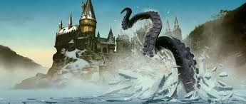 The Giant Squid In The Lake At Hogwart S Harry Potter Fan Art Harry Potter Pictures Harry Potter Art Drawings