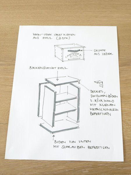 weinkisten schubladenschrank selber bauen mit arte m bel pinterest m bel wein und kiste. Black Bedroom Furniture Sets. Home Design Ideas