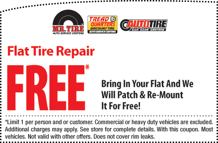 Mr Tire Oil Change >> Free Flat Tire Repair Tire Rotation Inspection And Tpms Check At