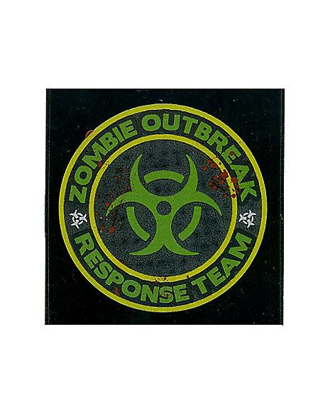 Zombie Outbreak Car Decal - Spirithalloween Future purchases - halloween decorations for your car