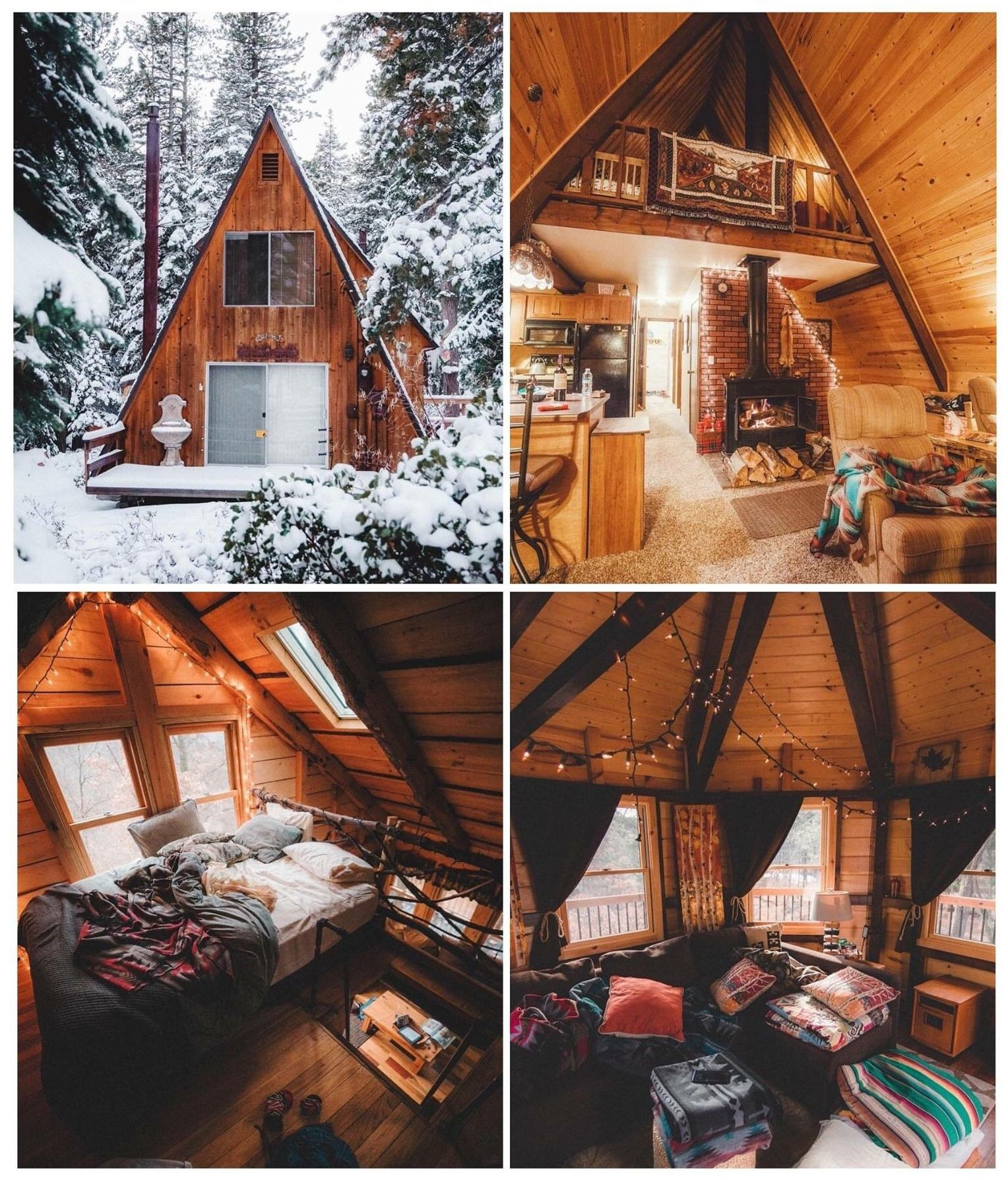 Warm Cozy Home: Like A Comfy Timber TENT...A-Frame