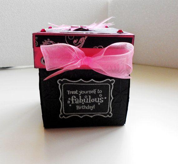 Birthday Cake Exploding Box Card Invitation by LittleSofi on Etsy
