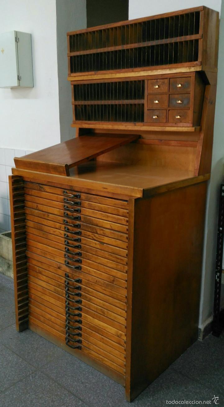 Mueble De Imprenta Comod N Chibalete Foto 1 A Letterpress  # Muebles Caja Registradora