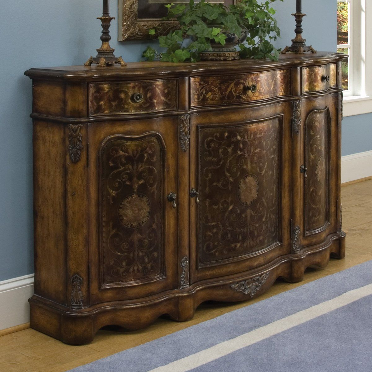 Bedroom Credenza: Pulaski Furniture 625222 Credenza Entry Table, Crete