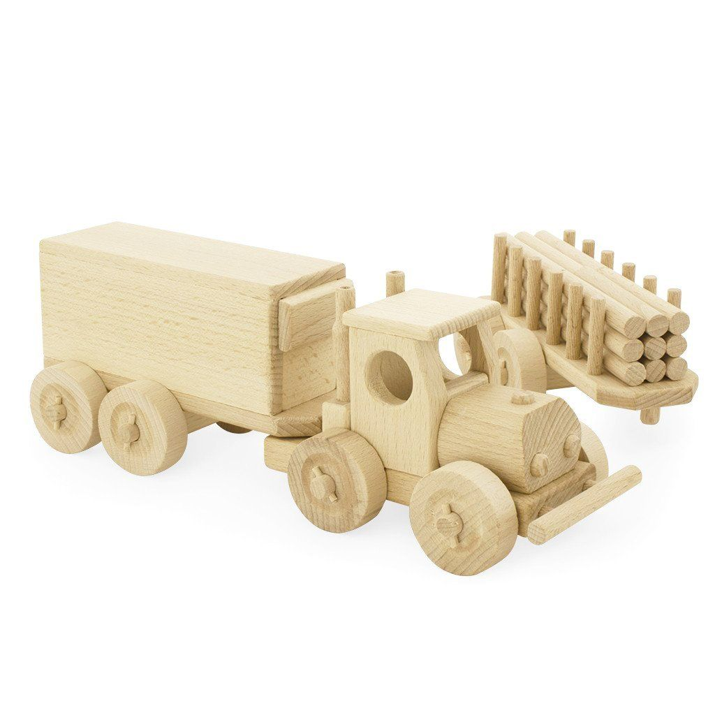 wooden truck & trailer set – rory | wooden toys | wooden
