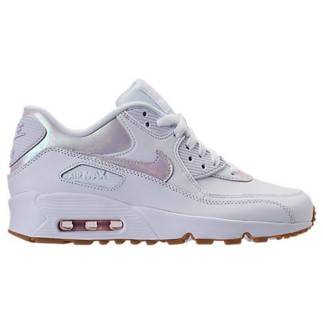 5f86cce87f10 Girls  Grade School Nike Air Max 90 Leather Running Shoes