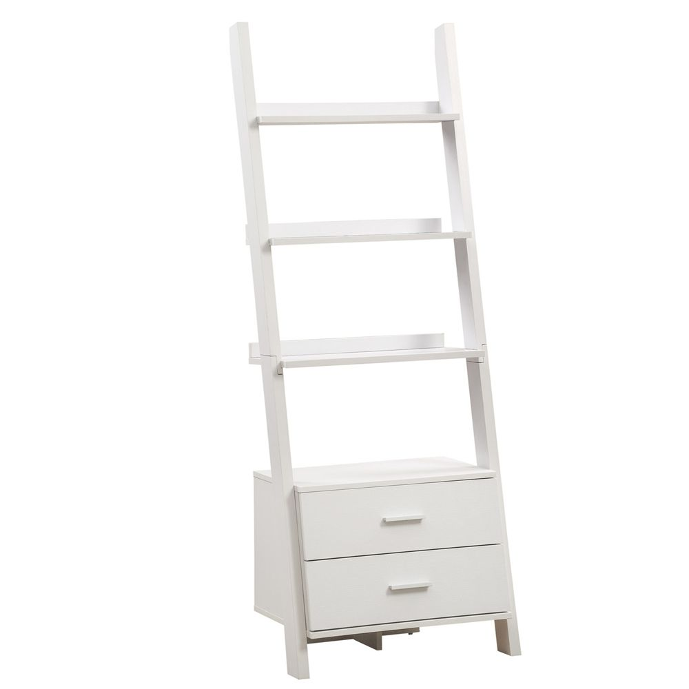 Who can resist this u high ladder bookcase with storage drawers