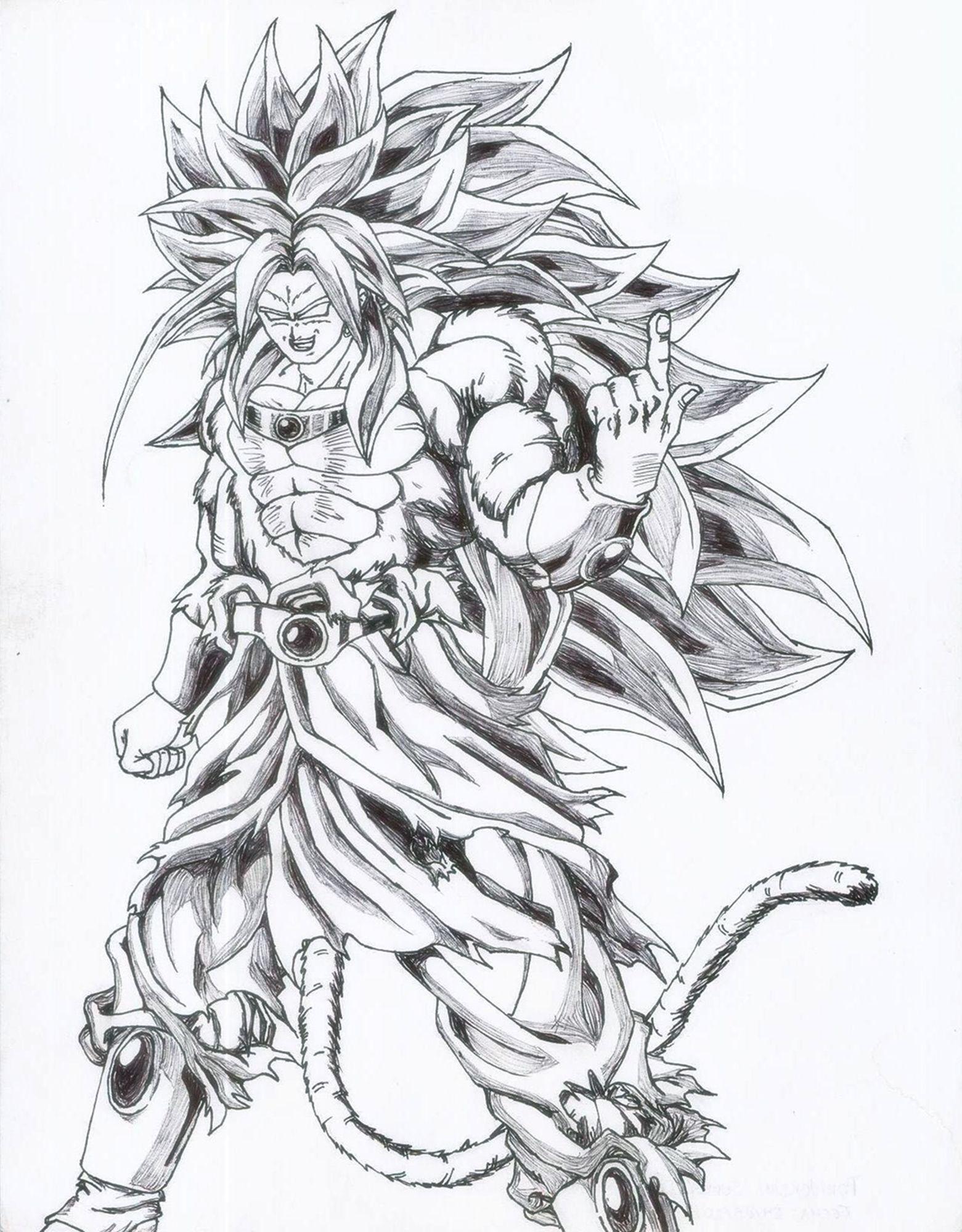 dragon ball af anime fan broly dibujos db pinterest