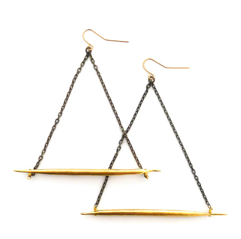 K/LLER  Lateral Quill Earrings