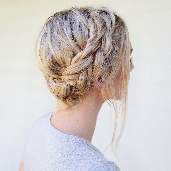 Chunky braid - braided Updos Wedding hairstyle #updos #hairstyles #updo #bridalhairstyle #upstyle #weddinghair