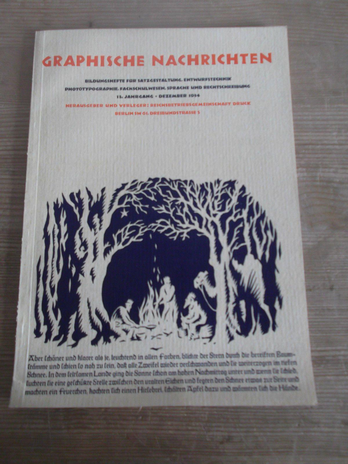 Cover Graphische Nachrichten, 13. Jahrgang, Heft 12, Dezember 1934