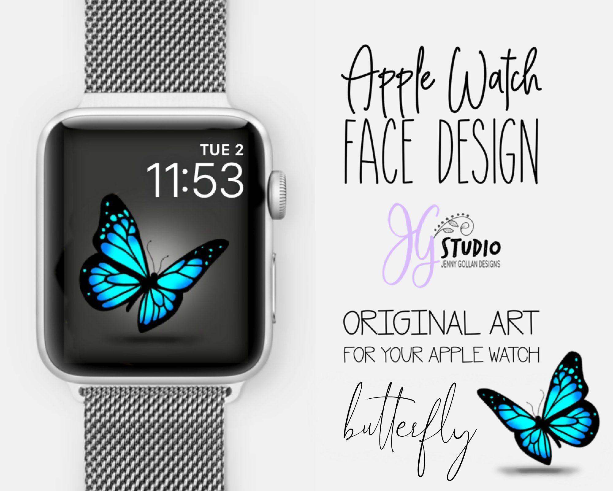 Apple Watch Wallpaper Butterfly Orignal Art for your Apple