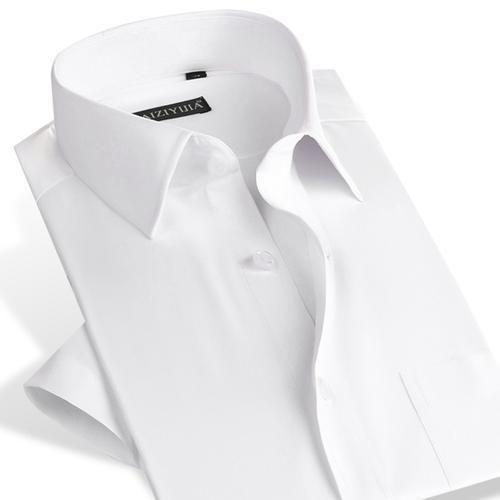Men's Short Sleeve Solid Twill Dress Shirt with Single Pocket Slim-Fit&Plus Sizeliligla #shortsleevedressshirts