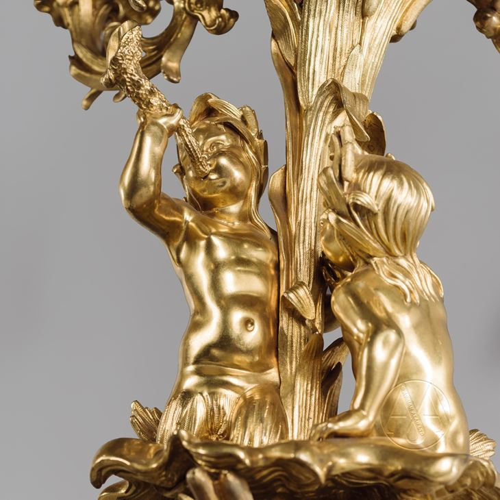 Pair Of Victorian Gilt-Bronze Candelabra