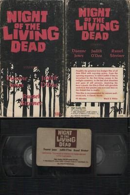 Night Of The Living Dead VHS 1984, Duanne Jones, Judith O'Ded, Russel Streiner