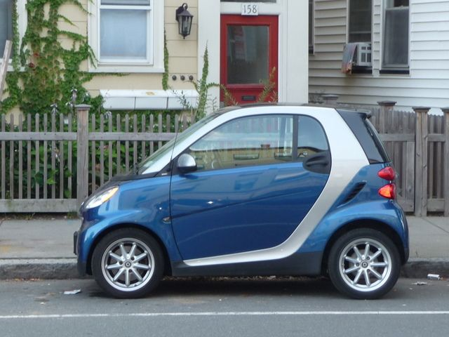 Inman Square Smart Car On Hampshire Street Cambridge