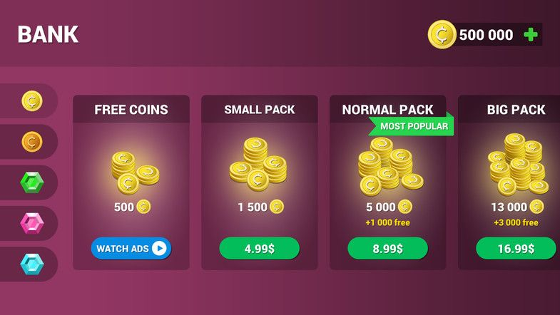 Money Pack Coins Crystals Diamonds Icons For Iap Sponsored