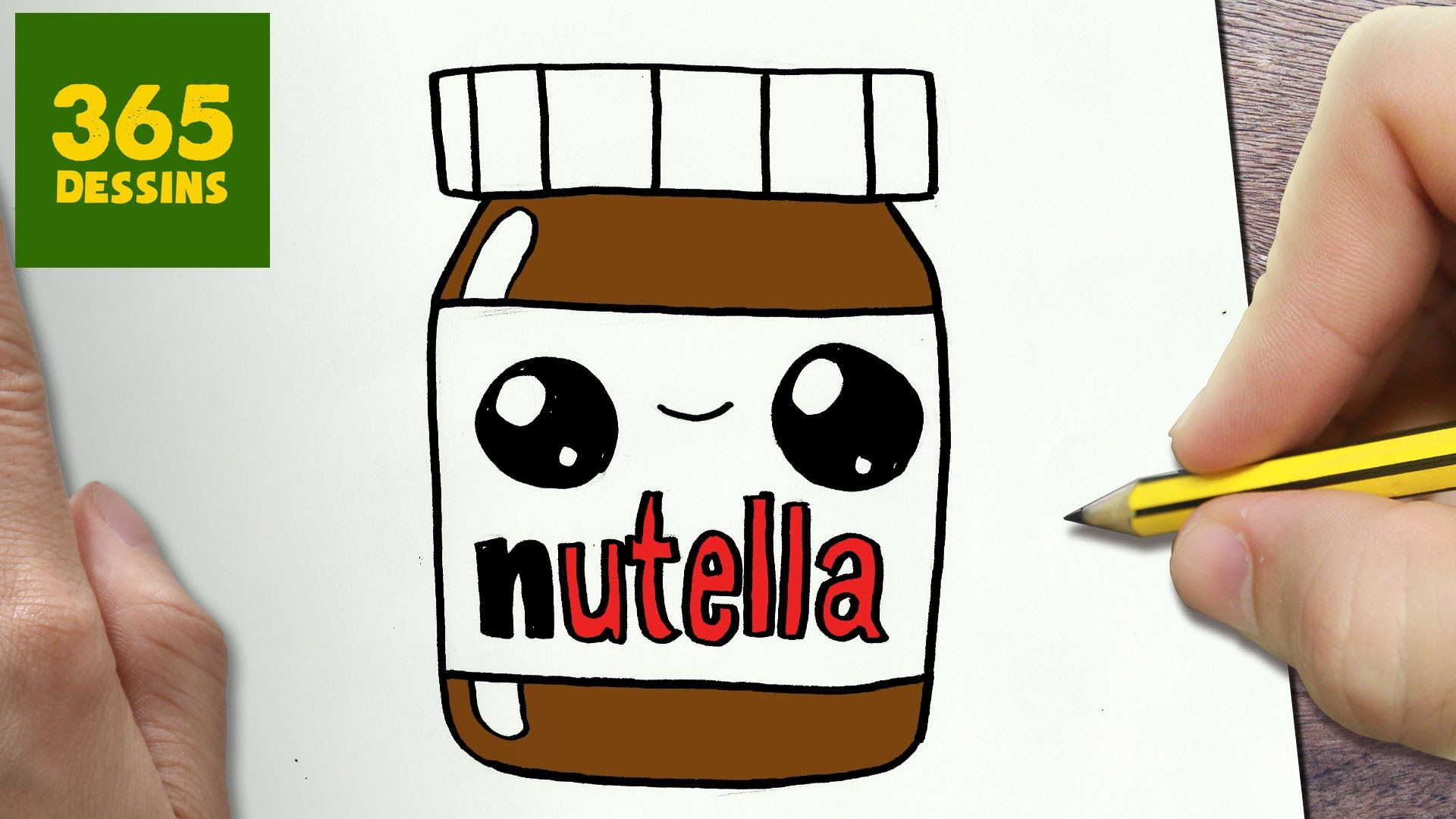comment dessiner nutella kawaii tape par tape dessins. Black Bedroom Furniture Sets. Home Design Ideas
