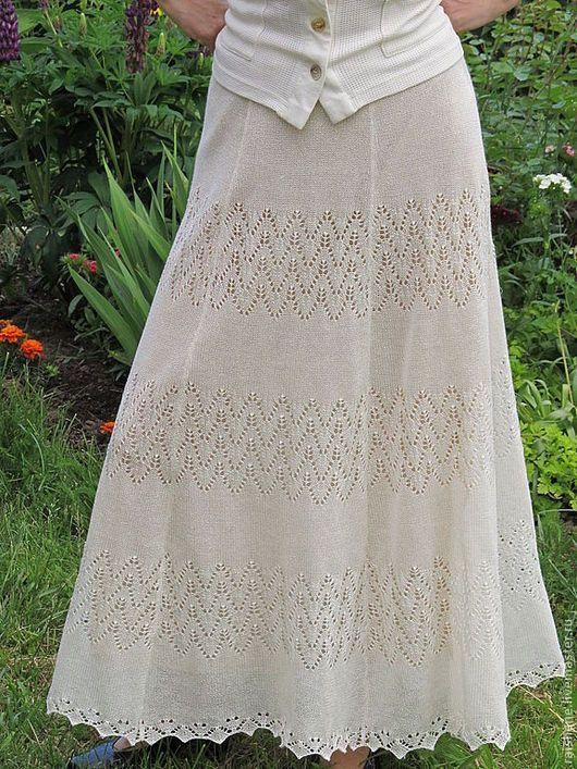 f5169047015 Костюмы ручной работы. Ярмарка Мастеров - ручная работа. Купить юбка  льняная ажурная. Handmade. Белый