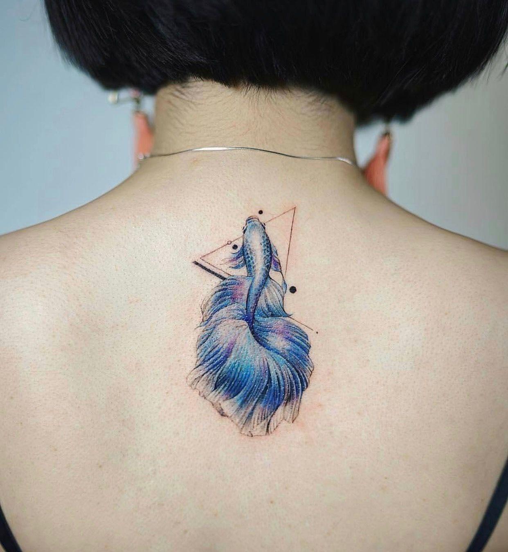 Blue Beta Fish Tattoo Tattoo Ideas And Inspiration Betta Tattoo Betta Fish Tattoo Goldfish Tattoo