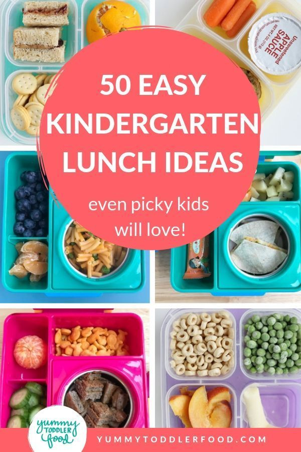 50 Easy School Lunch Ideas for Kindergarten (Picky Kids Will Love too!)