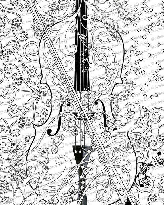 Printable Coloring Poster Coloring Poster Music Art Coloring