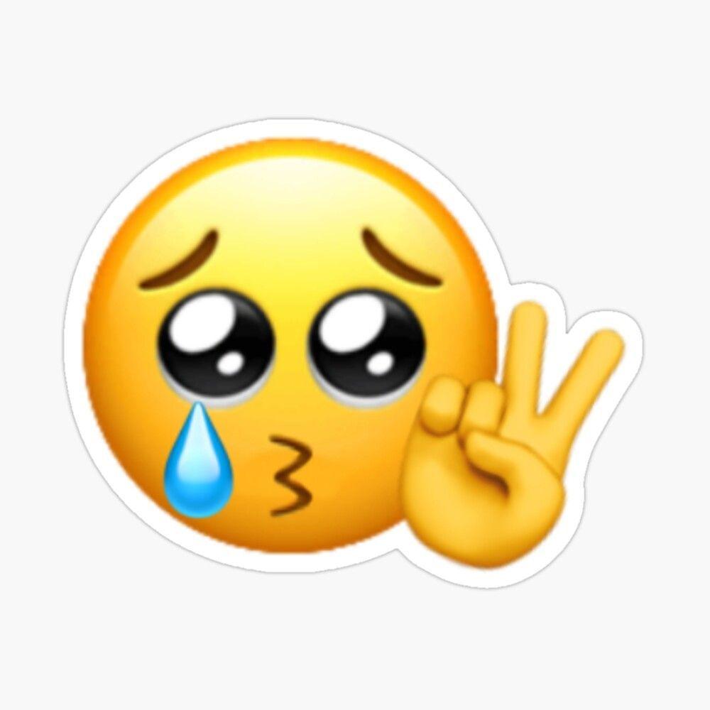 Pin On Reaction Emoji Stickers Peace Sign Emoji Emoji Combinations