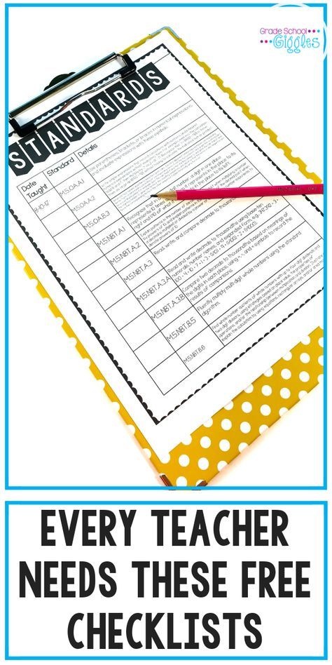 Do You Have These 7 Checklists Every Teacher Needs  is part of First year teaching, Teaching, Classroom forms, Teacher resources, Teacher organization, Education - Using checklists effectively can be a key part of being organized  That's why every teacher needs these 10 checklists
