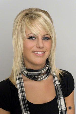 Hairstyles For Medium Length Hair Bangs : Hairstyles for shoulder length hair womens cut bangs