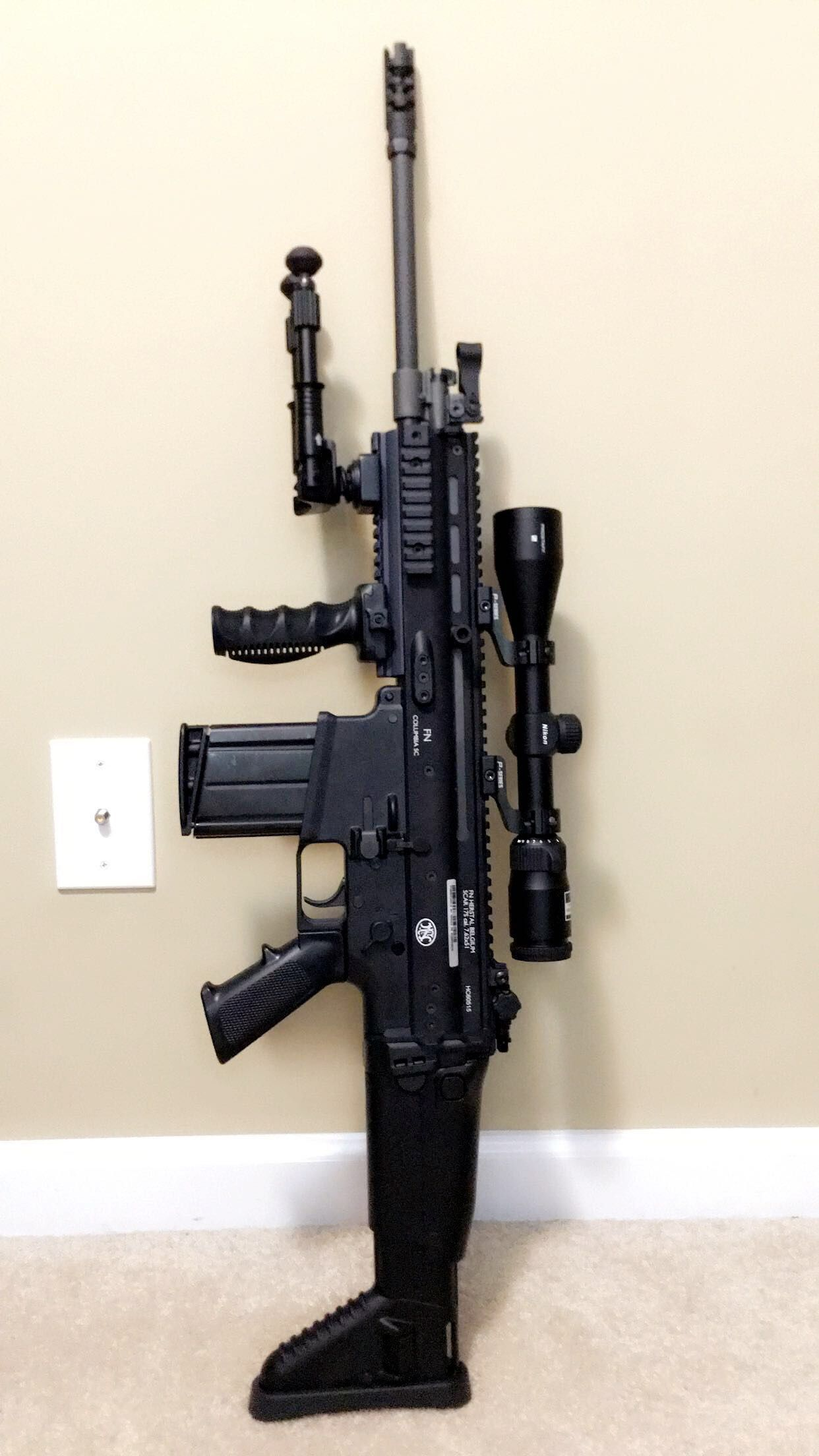 Fn Scar 17s 308 Rifle Guns Firearms Rifles Ar Pistols Pin Parts List Remington 870 Tactical Upgraded Extractor Vang Comp On