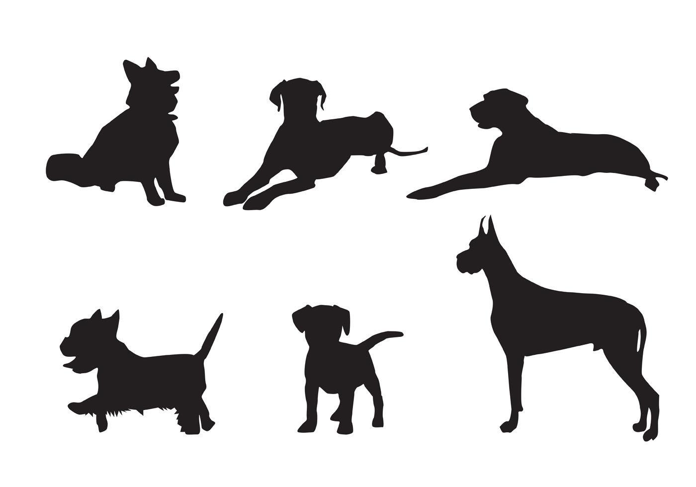 free vector dog silhouette vectors silhouette pinterest dog rh pinterest com free vector silhouette of cow eating free vector silhouette clip art