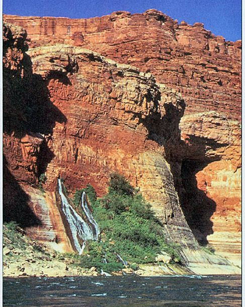 Springs Discharging Groundwater in the Grand Canyon