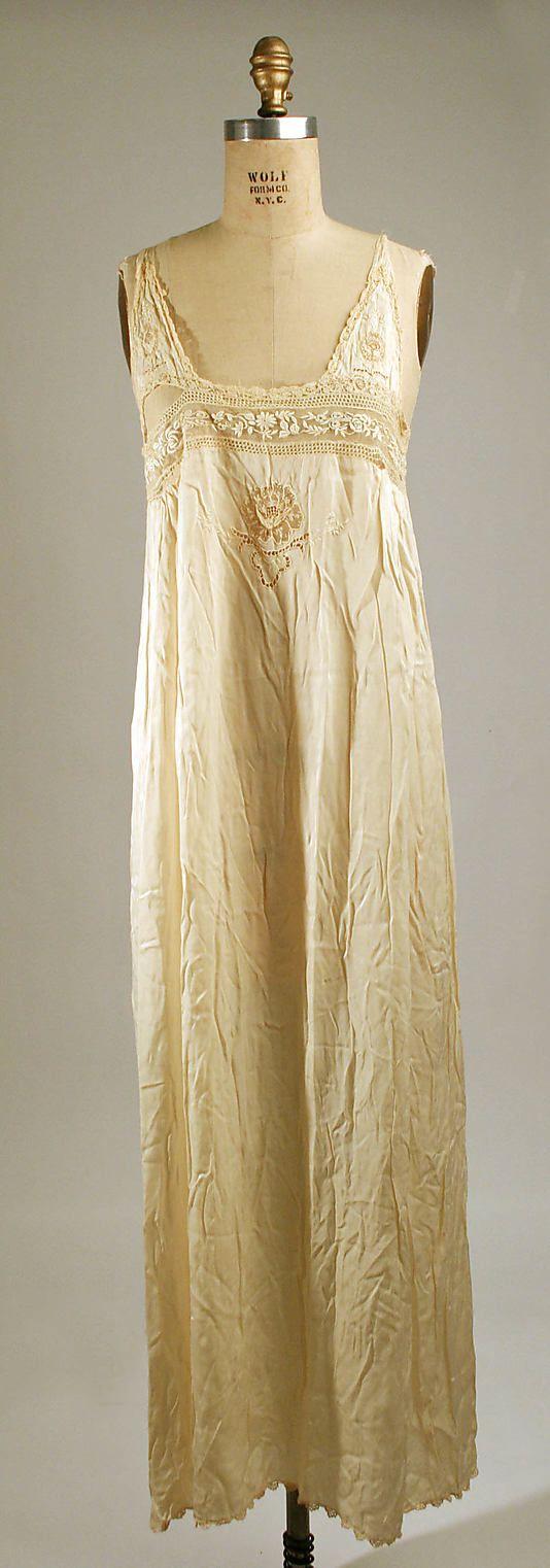 Wedding nightgown Date  1925 Culture  American Medium  silk c923b50b0
