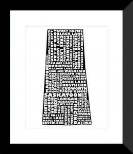Saskatchewan Print - MapMyState.com