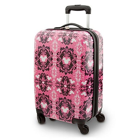 Disney Rolling Luggage - Pink Mickey Mouse Icon - 20 | Disney Bag ...