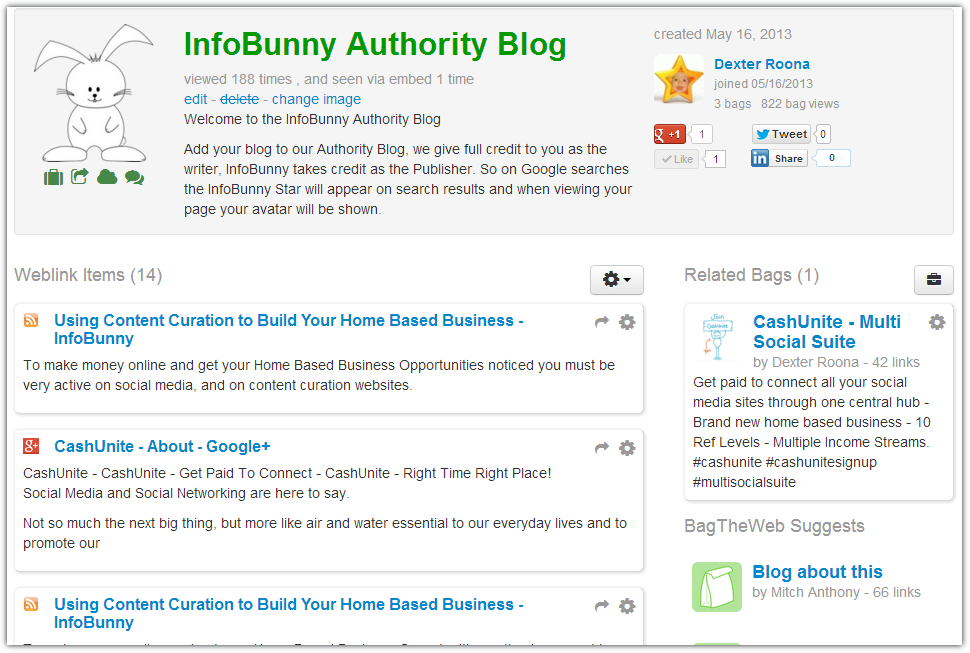 Content Curation Sites To Build Your Home Based Business - InfoBunny