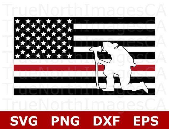 Thin Red Line Flag Svg Thin Red Line Svg Firefighter Svg File Fireman Svg File American Flag Svg Svg Thin Red Line Flag Firefighter American Flag Art