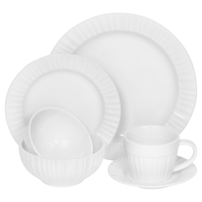 CorningWare® French White® 6-pc Dinnerware Set - Shop World Kitchen ...