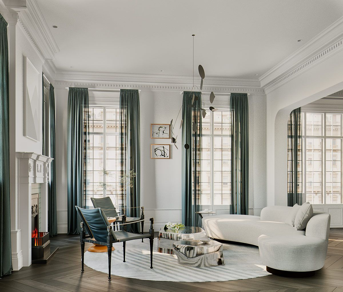 3 Ultra-Modern Takes on Neoclassical Interior Inspiration ...