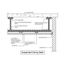 Suspended Ceiling Section In 2019 Ceiling Detail Dropped