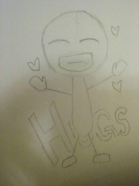 Just a sketch I did a few days ago. HUGS!!!!