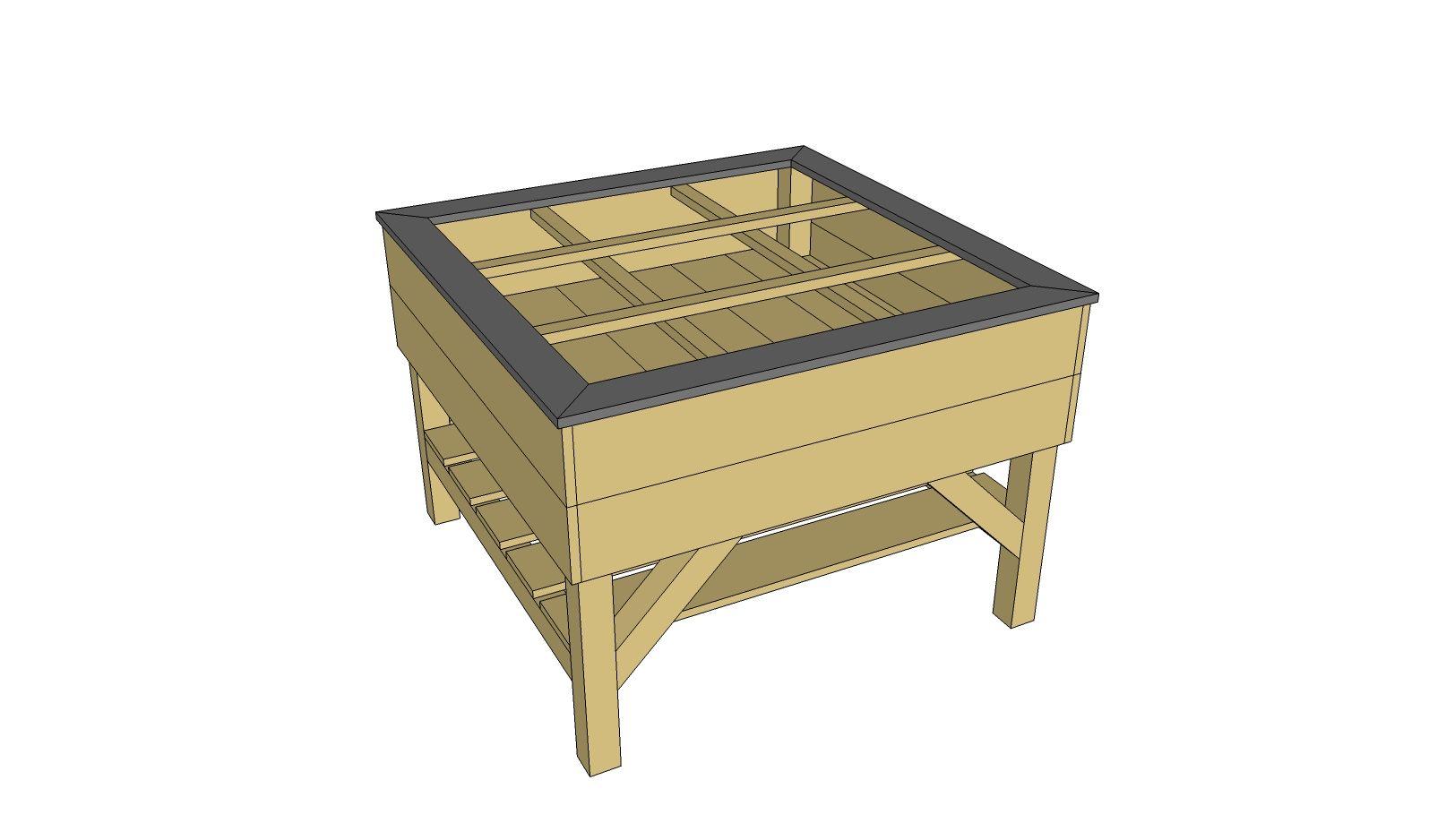 potager sur lev fabriquer soi m me jardin pinterest potager sur lev fabriquer soi. Black Bedroom Furniture Sets. Home Design Ideas