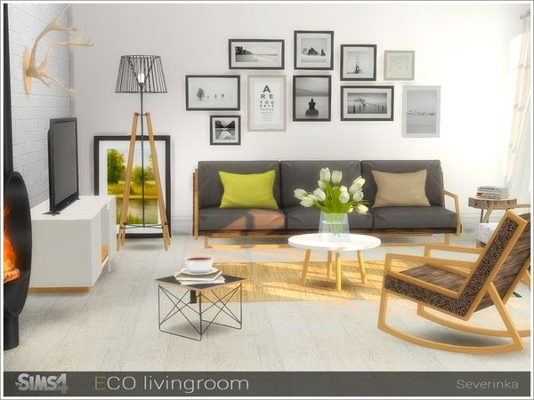 eco livingroom by severinka at tsr sims 4 updates sims pinterest innenarchitekt. Black Bedroom Furniture Sets. Home Design Ideas