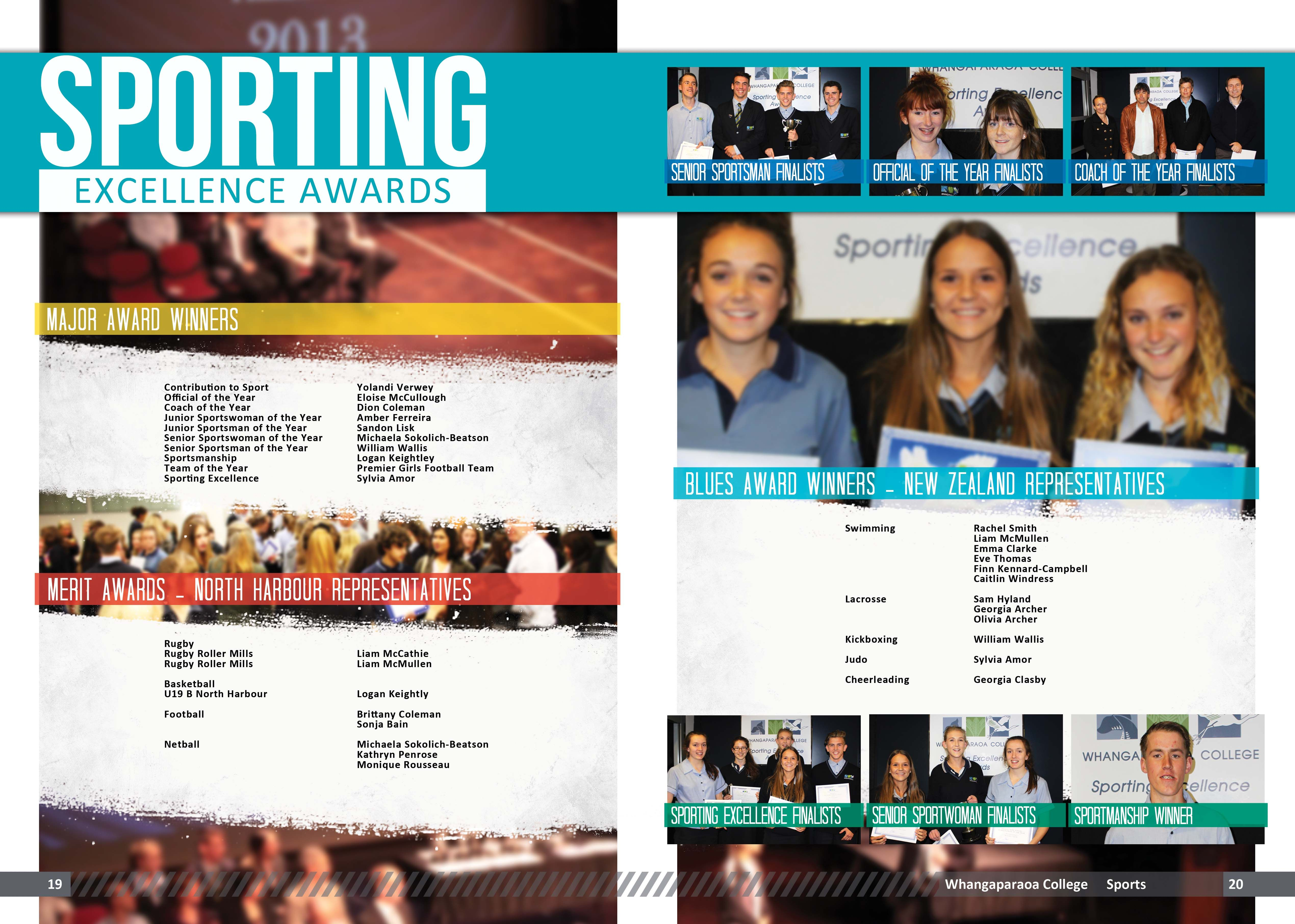 yearbook page - sports awards | Yearbook Design Inspiration ...