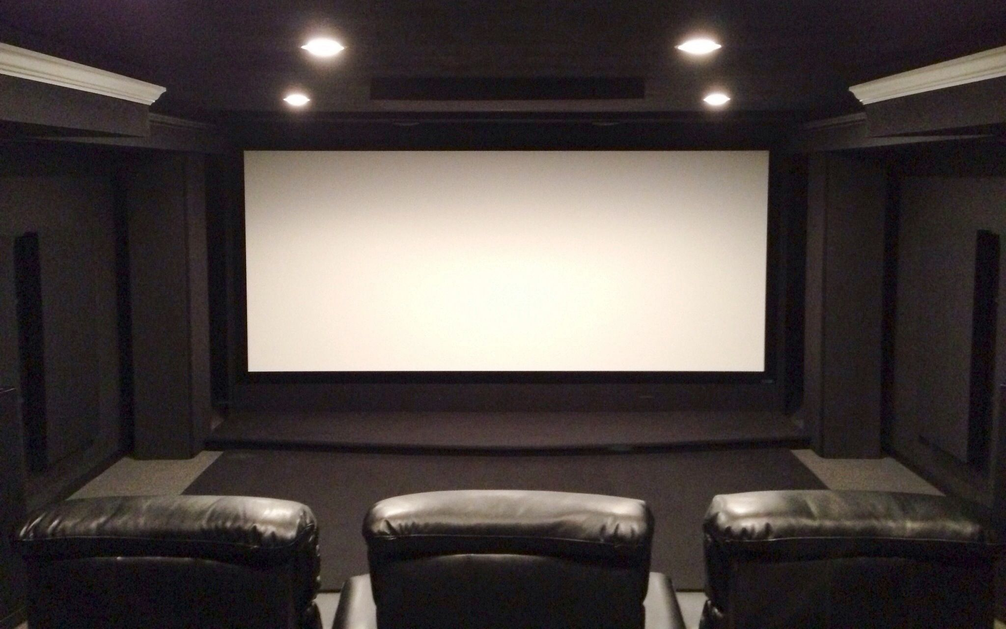 Black theater improvment thread once you go black you for Wallpaper home theater