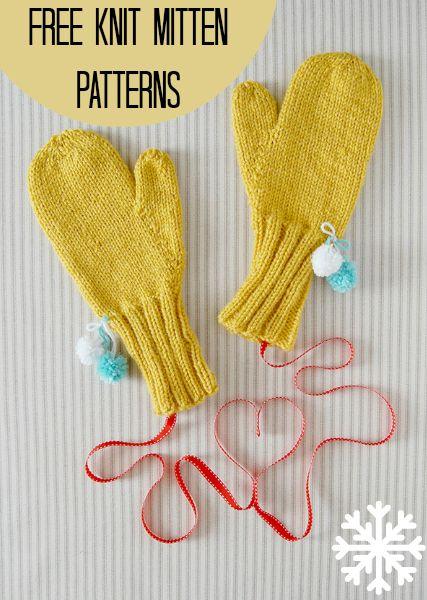 36 Free Knit Mitten Patterns Knit Clothing Patterns Free Patterns