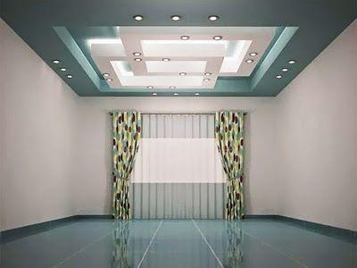 Modern pop false ceiling designs for living room with LED ceiling ...