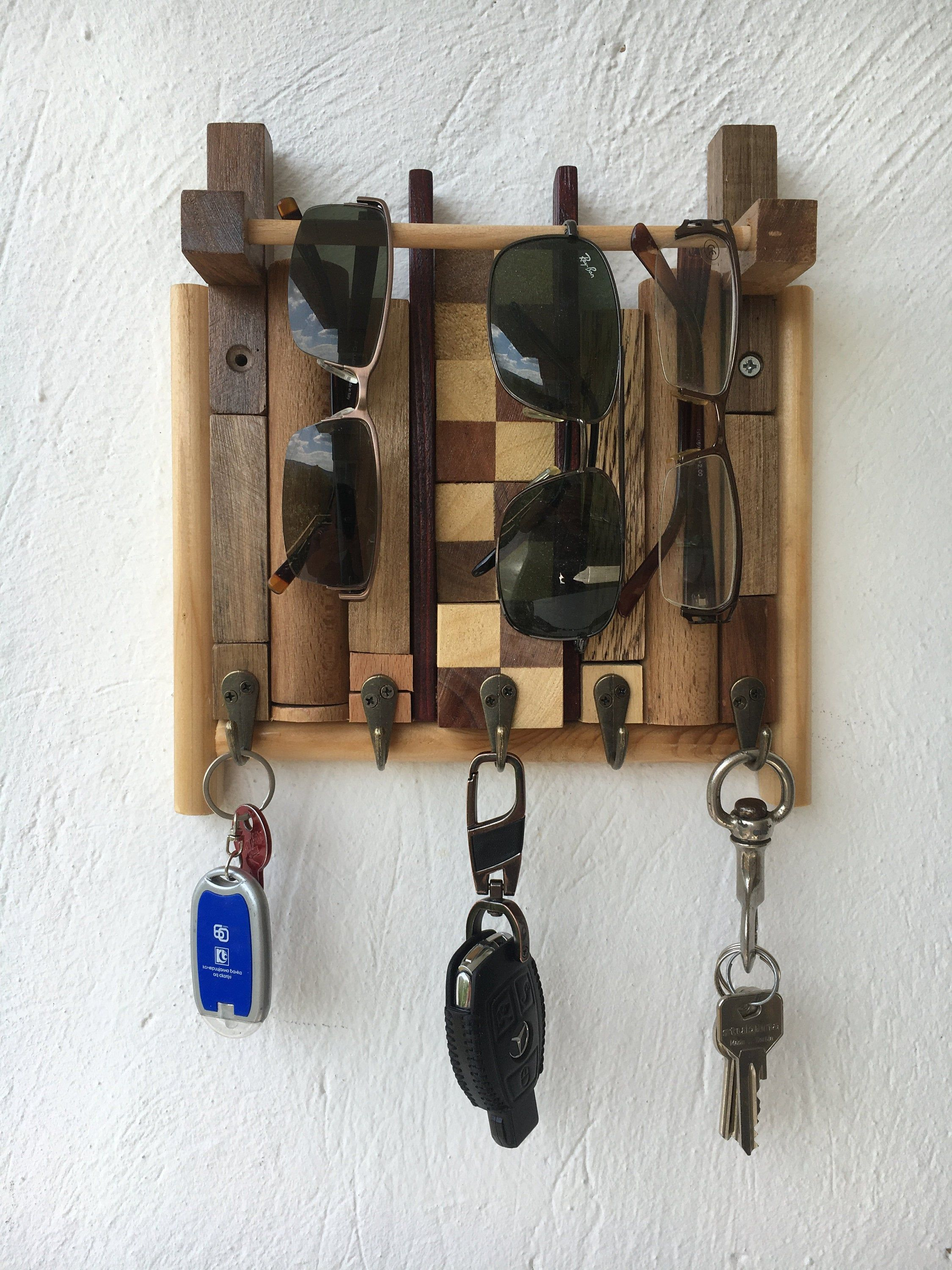 Sunglasses Holder And Key Rack Wall Eyeglass Display Wall Mount